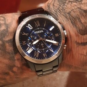 Blue fossil watch